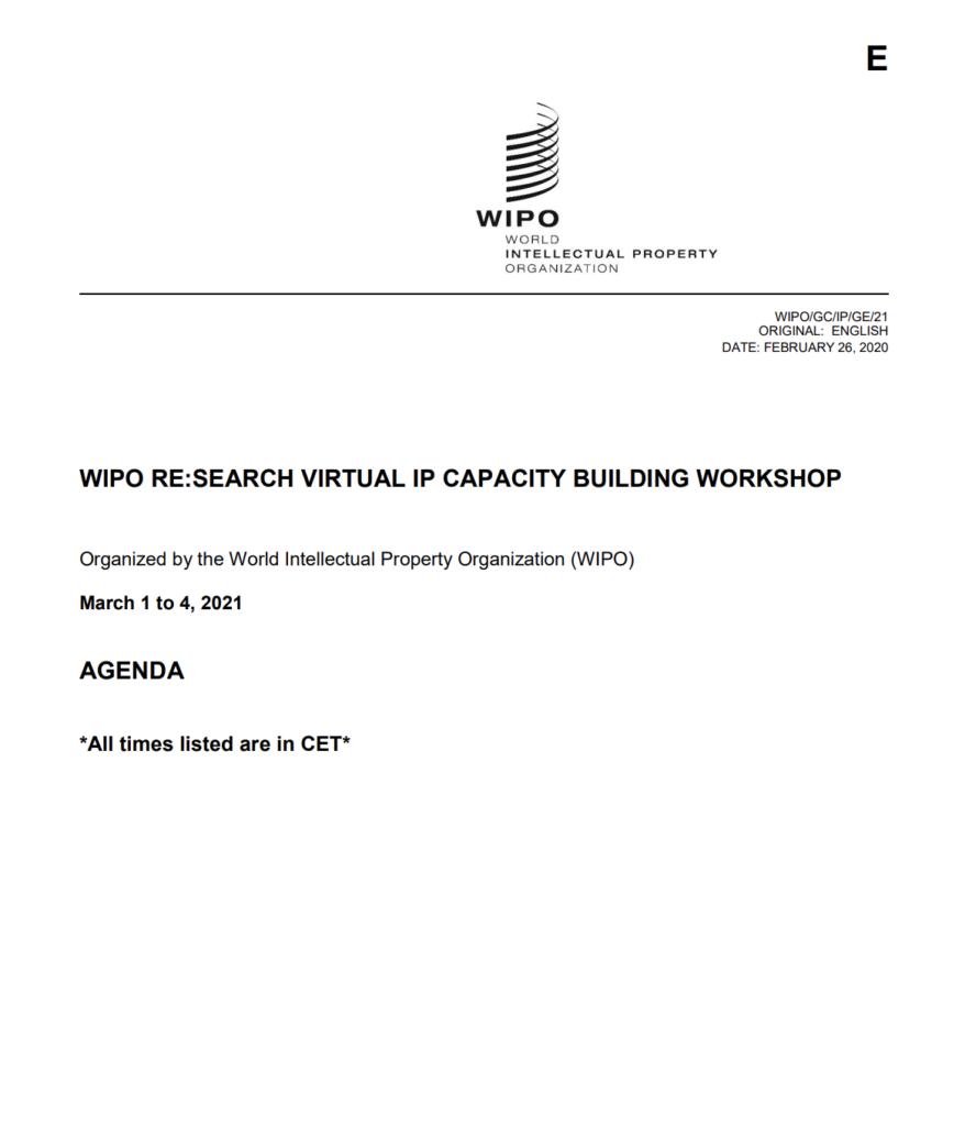 Bajoe Wibowo - Emma Francis - WIPO RESearch Virtual IP Capacity Building Workshop