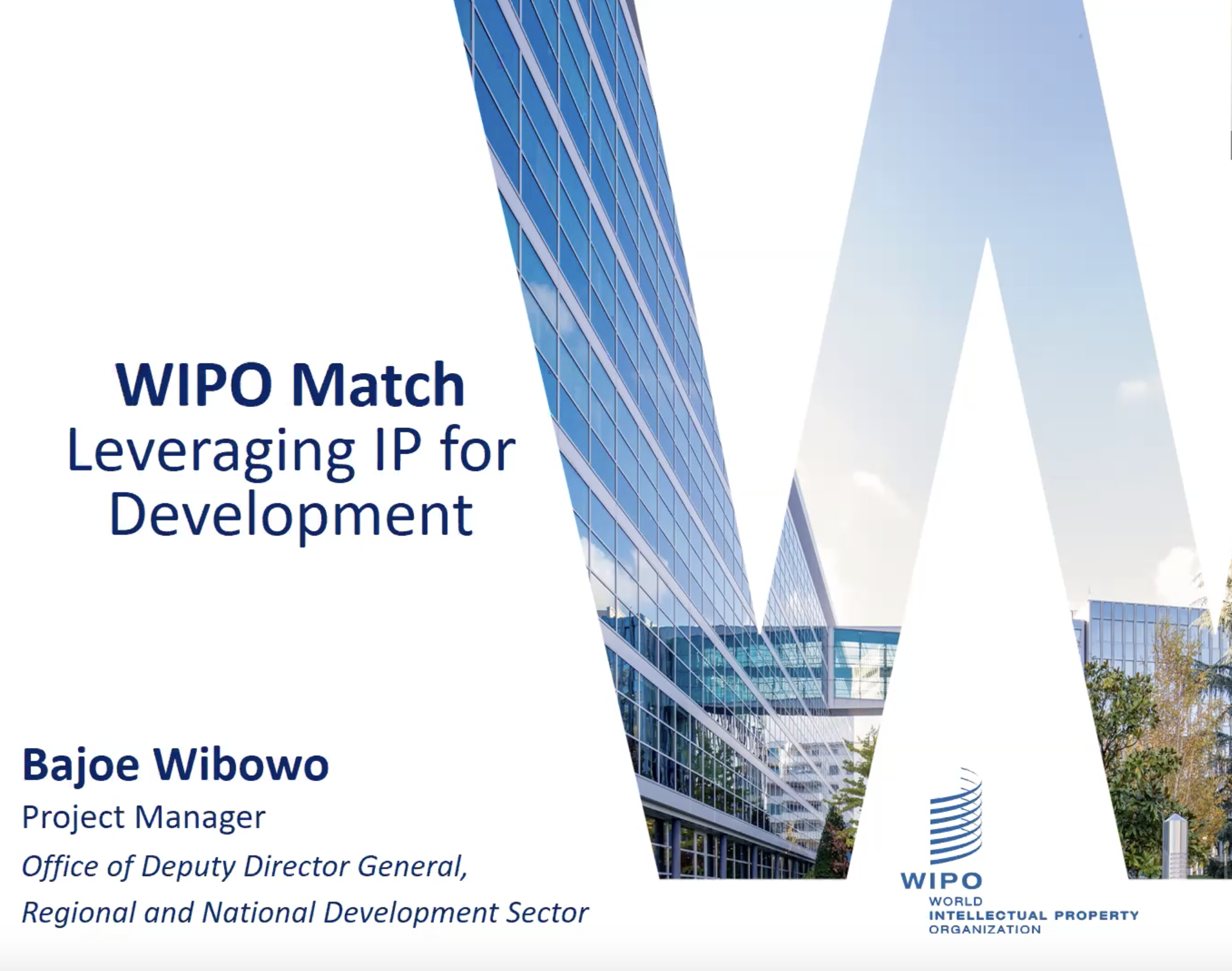 Bajoe Wibowo - WIPO Research Virtual IP Capacity Building Workshop