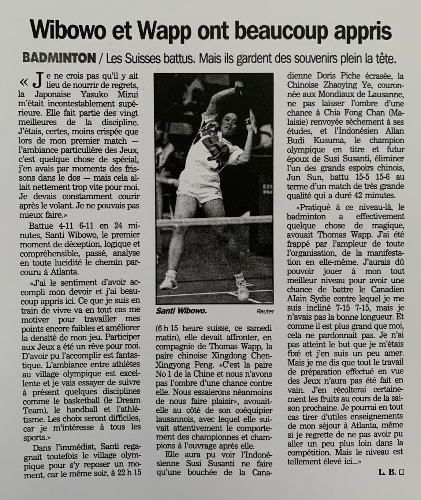 Badminton Club Santi Wibowo