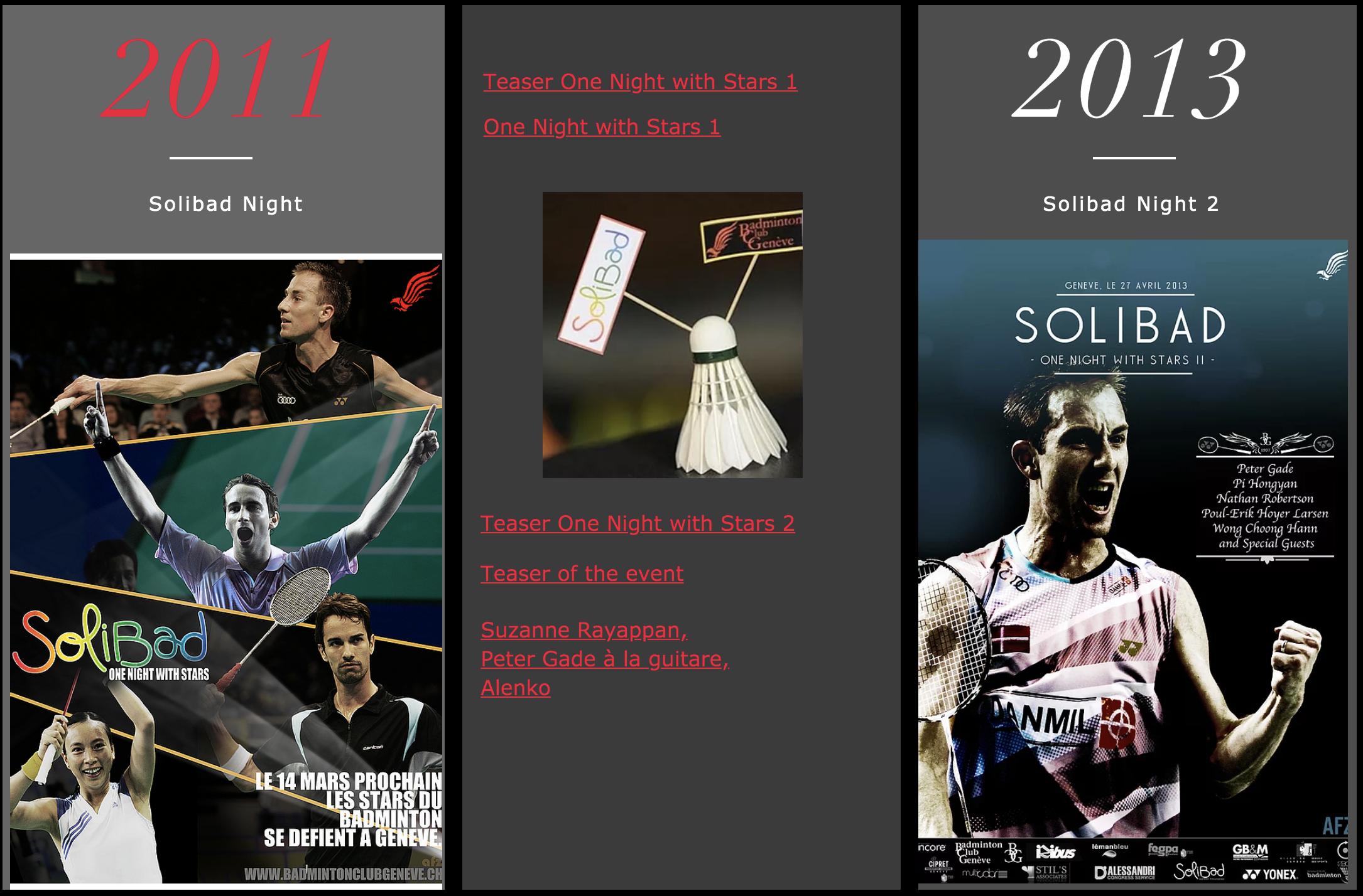 Evénements caritatifs Badminton Club Genève