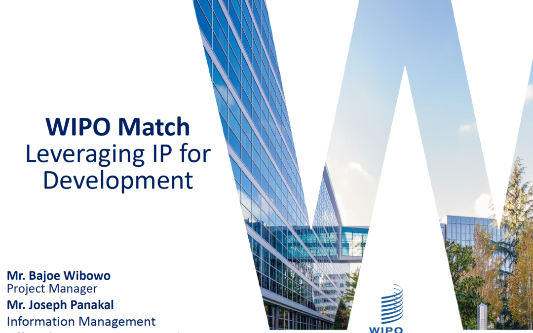 WIPO Match Presentation with The IQAC St. Claret College